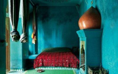 oriental.. blue..