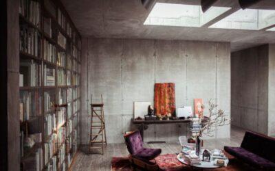 Christian & Karen Boros beton penthouse lakása – Berlin – életterek 001