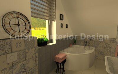 Vintage hangulatú fürdőszoba