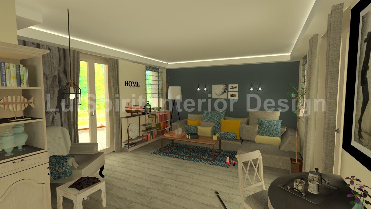 egyedi stílusú otthonos nappali
