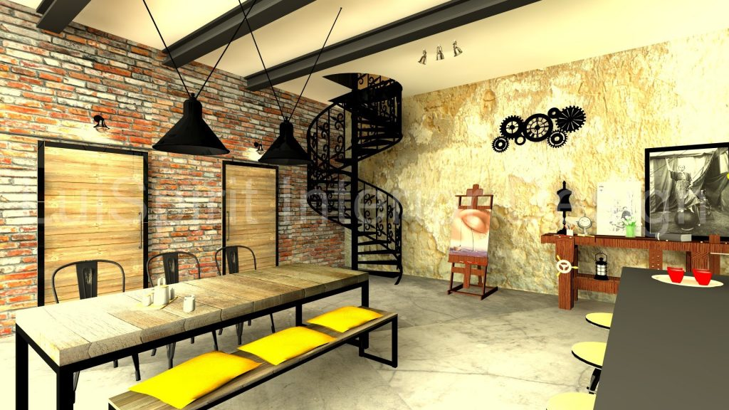 ZONA INDUSTRIALE – LOFT department design kitchen dining room