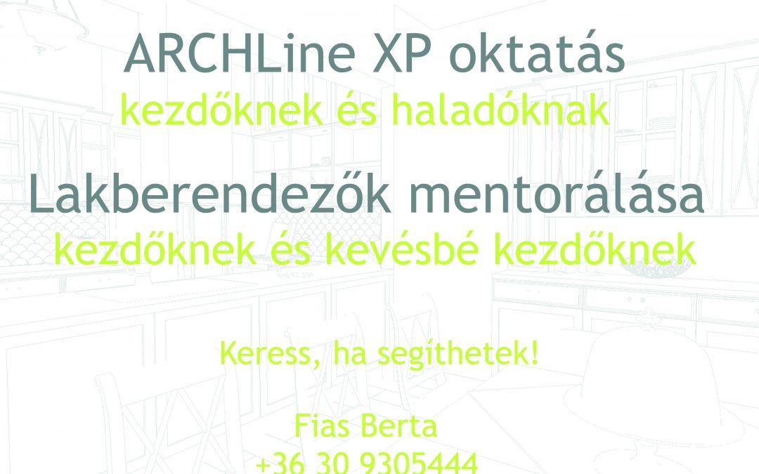 privát ARCHLine Xp oktatás