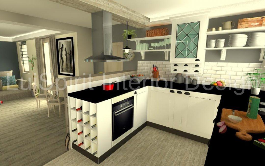 enteriőr egyedi stílusban – a konyha